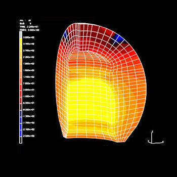 Analysis of a ceramic ball for hip replacement